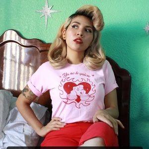 Latina Pinup Pink I Don't Love You S TShirt Tee
